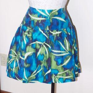 Kenneth Cole Tropical Blue Green Full Skirt NWT 10
